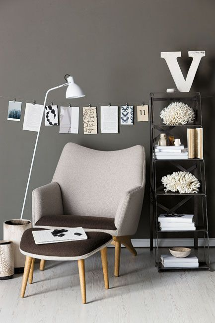 Industrial Chic Inspiration This Picture Makes Me Want To Paint A Room Beautiful Slate Grey Color
