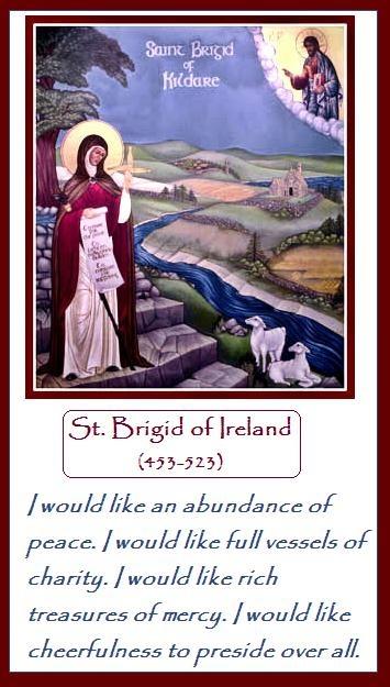 St. Brigid, my beautiful patron saint. St Brigid, pray for us.