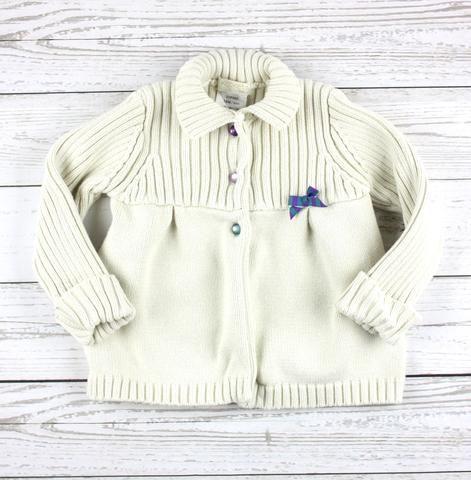 cream cardigan, cream sweater, Krickets sweater, knits for girls