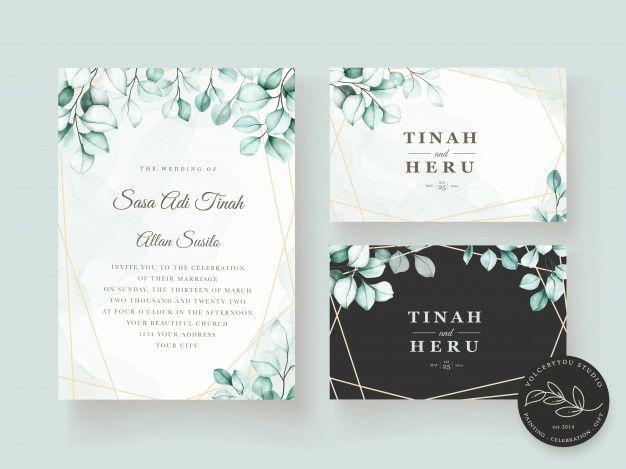 Download Elegant Eucalyptus Wedding Invitation Card Set For Free Wedding Invitation Cards Eucalyptus Wedding Invitation Wedding Invitations