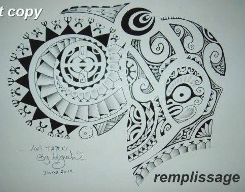 789 best tattoo polyn sien images on pinterest - Tatouage tribal epaule ...