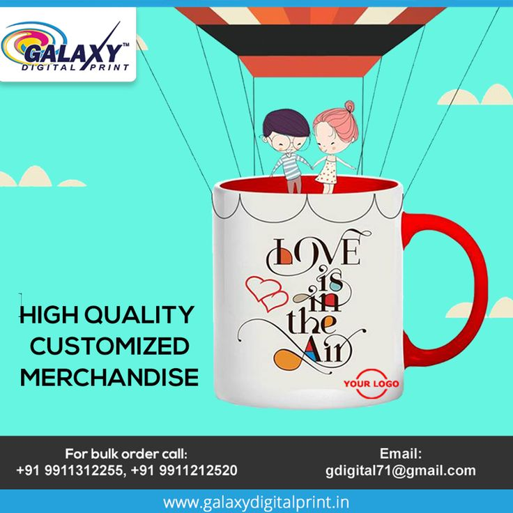 Promote your business with high quality #Customized #merchandise  Place your bulk order now here at #GalaxyDigitalPrint.  Contact us at: gdigital71@gmail.com