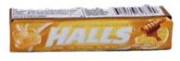 wholesaleHalls Stick Honey-Lemon 9 Pc (Case of 20)