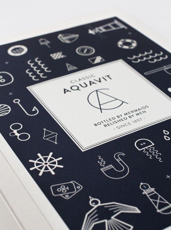 Classic Aquavit by Nina Brandt, via Behance