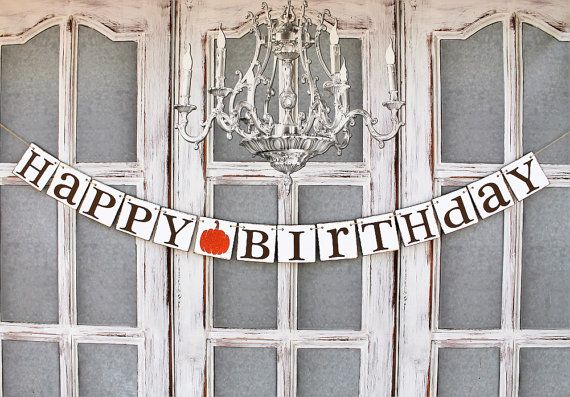 Happy BIRTHDAY SIGNS -  SPARKLY Fall bIRTHDAY signs , October birthday, Fall…