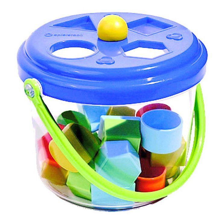 SPIELSTABIL Baby Steckbox mit 16 Formen