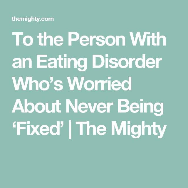 a personal recount on having an eating disorder Each eating disorder has its own diagnostic criteria that a mental health professional will use to determine which disorder is involved it is not necessary to have all the criteria for a disorder to benefit from working with a mental health professional on food and eating issues.