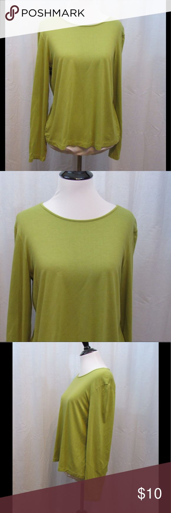 """Chico's Design Green Long Sleeve Top 2 M Size: 2 Material: 95% Rayon 5% Spandex Care Instructions: Hand Wash  Bust: 40"""" Sleeves: 23"""" Length: 22""""  All clothes have been inspected and are in excellent used condition unless otherwise noted. P28 Chico's Tops"""