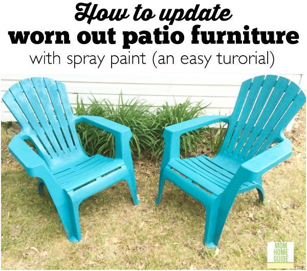 How to update old patio chairs an easy tutorial best for How to paint rattan patio furniture