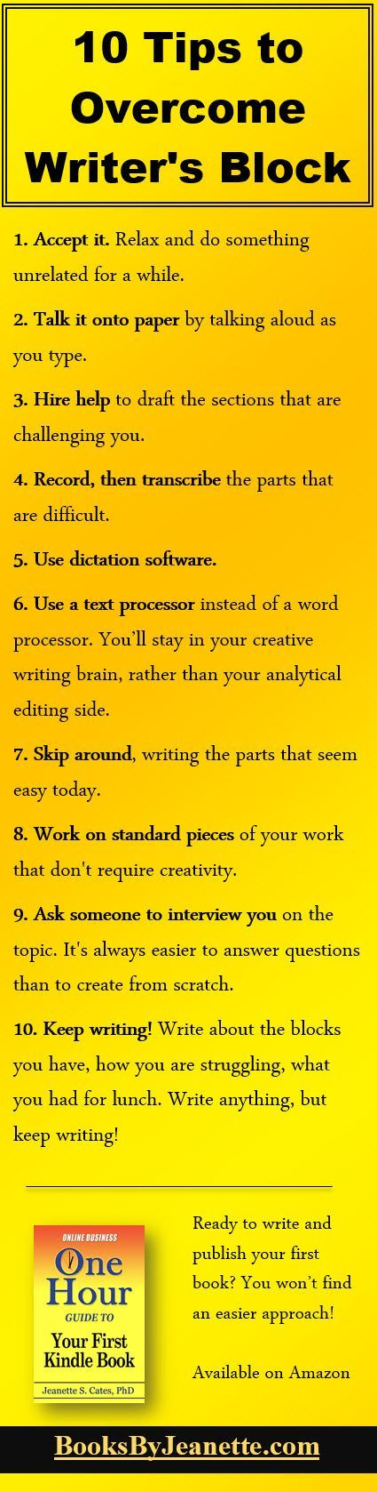 10 Tips to Overcome Writer's Block