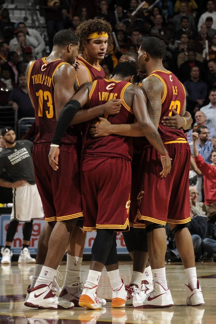 CLEVELAND, OH - OCTOBER 30: Kyrie Irving #2 of the Cleveland Cavaliers receives support from his teammates prior to sinking a couple of free throws late in their victory over the Brooklyn Nets at The Quicken Loans Arena on October 30, 2013 in Cleveland, Ohio. (Photo by David Liam Kyle/NBAE via Getty Images)