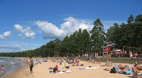 Motala, Sweden...I sat on that beach almost every day for 6 weeks. It was marvelous!