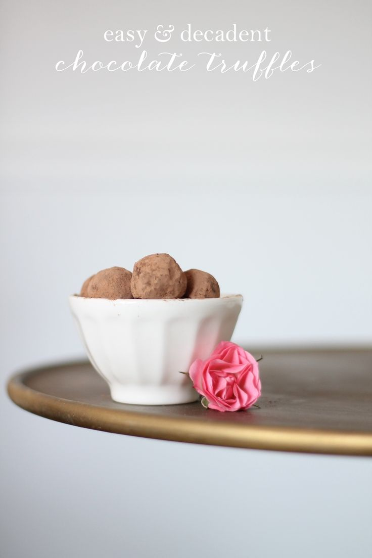 Easy Chocolate Truffles with Red Wine - Coordinately Yours by Julie Blanner entertaining & design that celebrates life