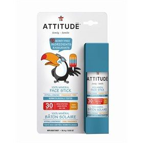 Zonnebrand stick Gezicht en Lip Little Ones SPF30 nano vrij en parfum vrij Attitude