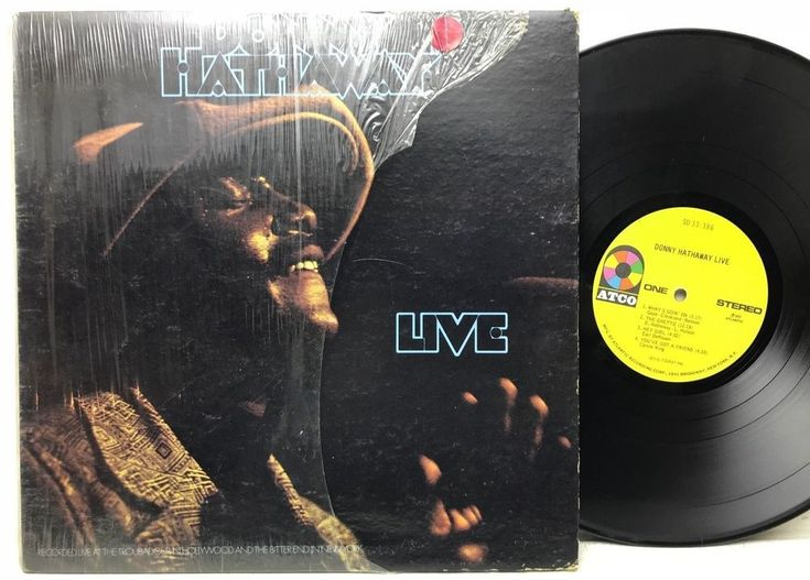 Donny Hathaway Live 1972 ATCO SD 33-386 Stereo in-shrink LP Vinyl Record Album