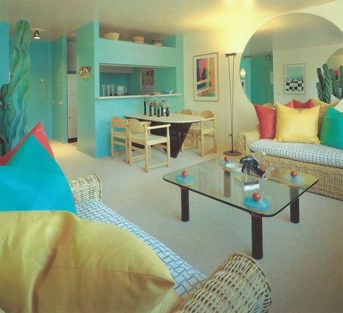1980s interior design.