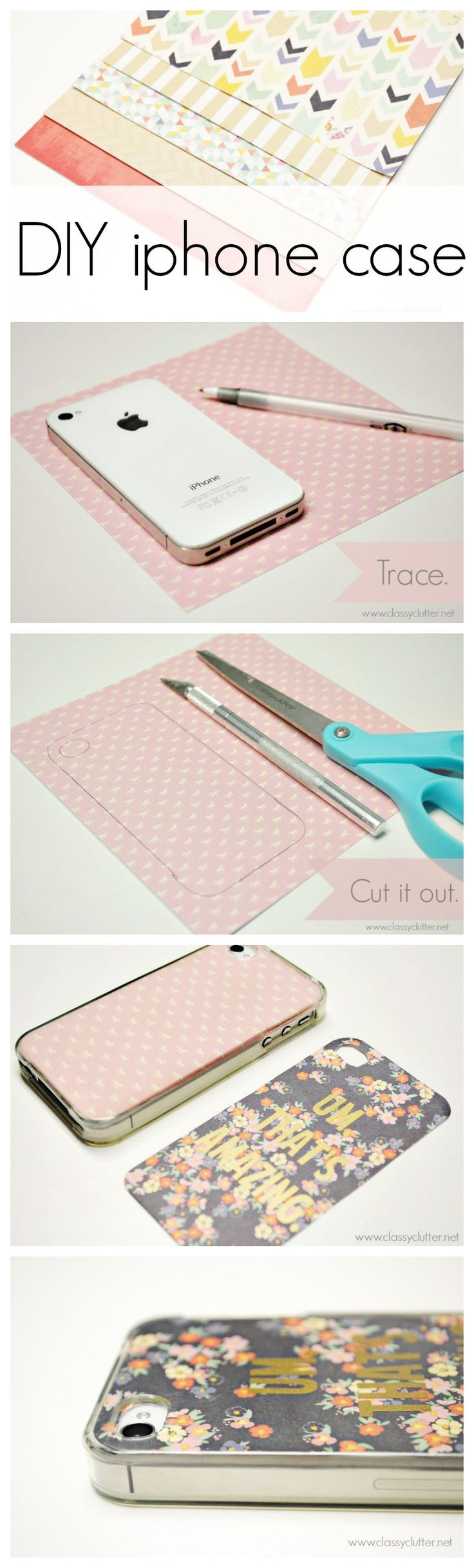 DIY iphone case - this would be such a cute, inexpensive gift! Creative Ideas Quirky Ideas