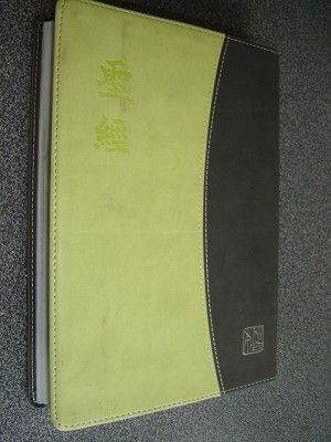 The Holy Bible - Chinese Union Version with New Punctuation (Shangti Edition) Black-Green Duo-Tone Leather Cover with Silver Edges / Vertical Script