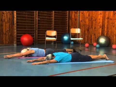Břišní svaly - Cvičením proti bolesti - 1. díl - YouTube