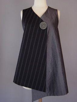 Juanita Girardin: Kimono Jacket in White and Black