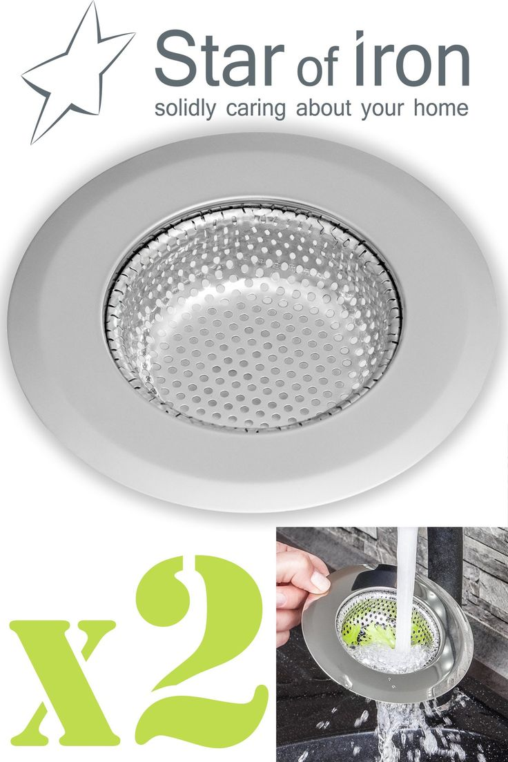 STAR of IRON Kitchen Sink Strainer - 4.45 Inch Dia - Set of 2 Sink Strainers - Stainless Steel Sink Drain Cover - Perfect Fit for Almost All US Kitchen Sinks, No Rust, Sturdy Build, Chic Modern Finish