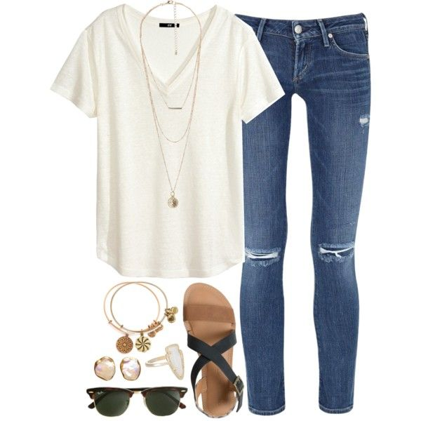 A fashion look from June 2015 featuring H&M t-shirts, Citizens of Humanity jeans and IPANEMA sandals. Browse and shop related looks.
