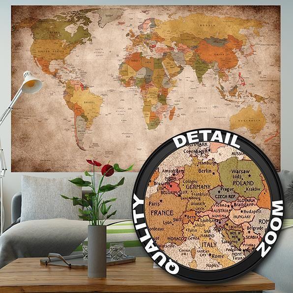Fototapete Weltkarte Wandtapete Wanddeko Wandbild Atlas retro vintage Karte | Heimwerker, Farben, Tapeten & Zubehör, Tapeten & Zubehör | eBay!