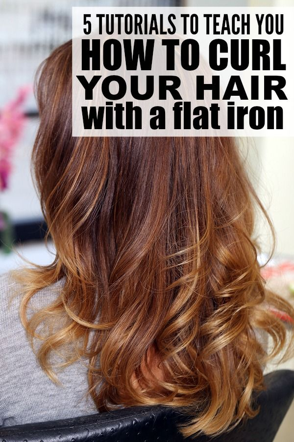 5 Tutorials To Teach You How To Curl Your Hair With A Flat