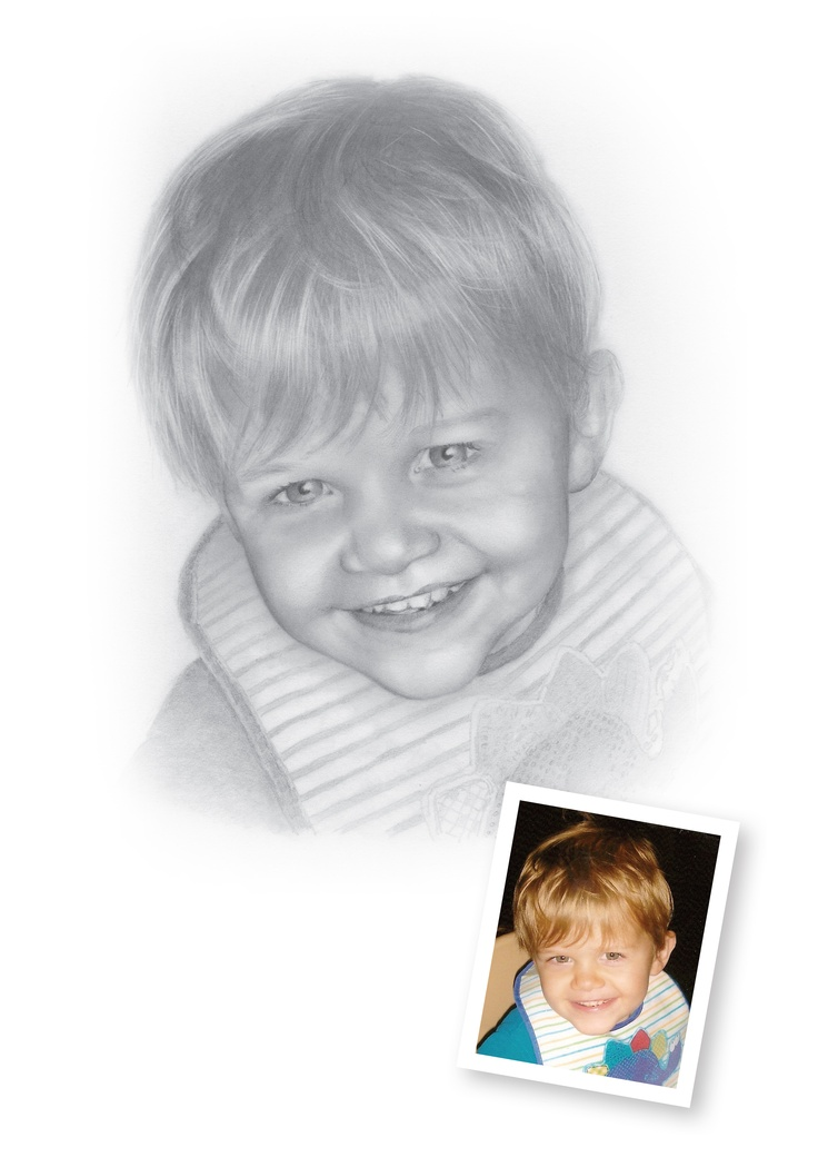 Pencil Portraits of Boys - Harry.  A surprise Christmas gift to my great friends Norman and Carol. Seeing them unwrap their grandsons portrait - priceless!