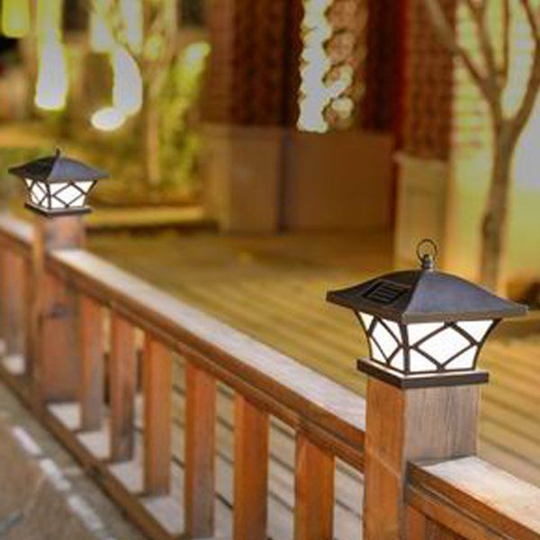 Youll love the solar 1 light fence post caps at wayfair great