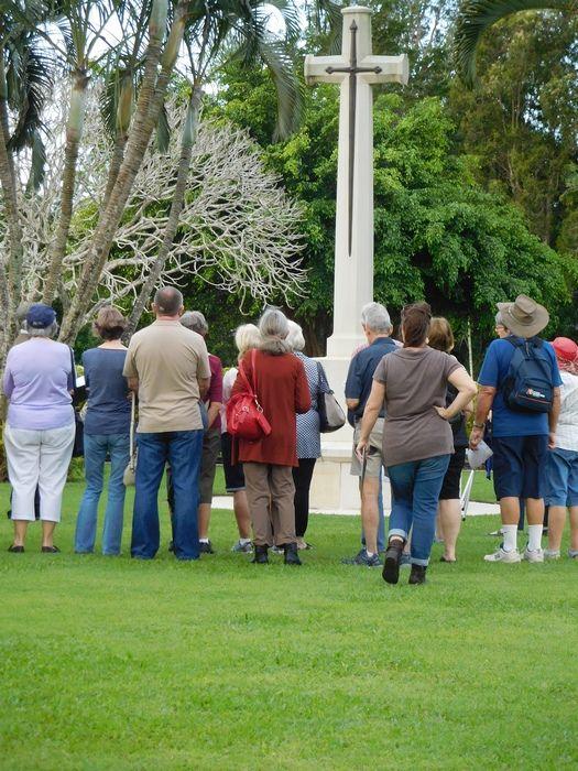 At the Cross of Sacrifice, Cairns War Cemetery