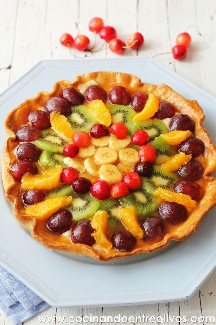 Cocinando entre Olivos: Tarta de frutas. Receta paso a paso.