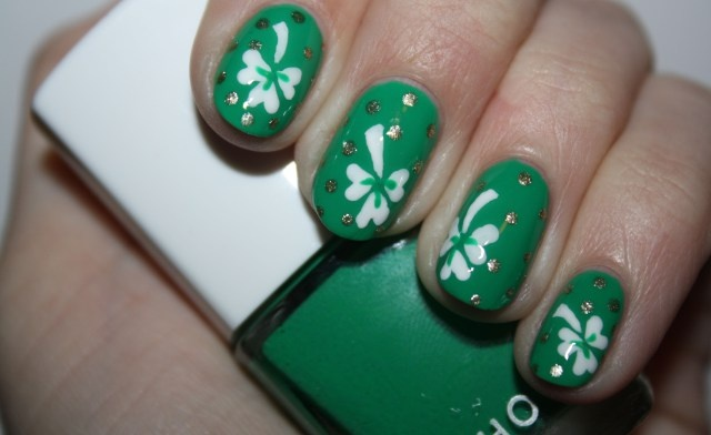 Luck of the Irish nail art by Polish You Pretty! Click the photo to see the full tutorial.