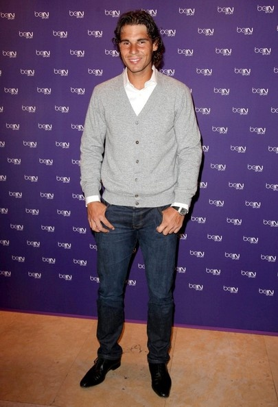 Cardigan Style: Rafael Nadal at beIN Sport 1 Channel Launch.
