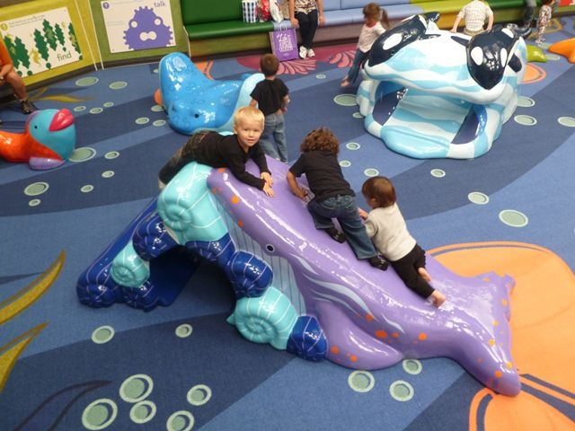 Taking a dive at Westfield Capital!! Our custom themed soft foam play areas are a great place for kids to run off some energy!