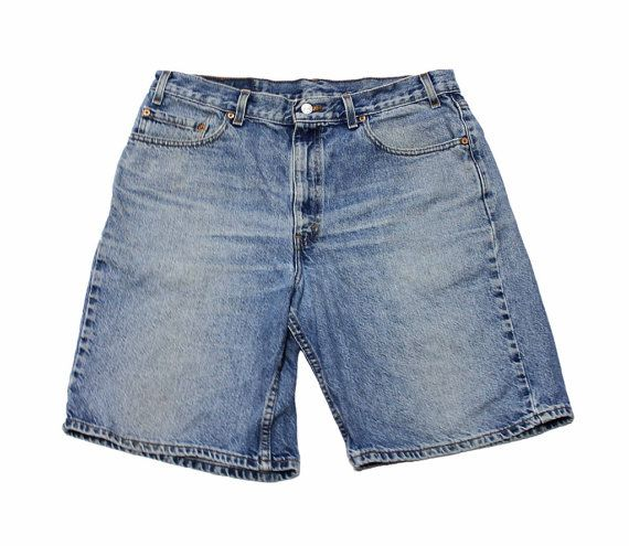 """Vintage 1990s Levis 550 Jean Shorts """"Jorts"""" Made in USA Mens Size 36 (Relaxed Fit)"""