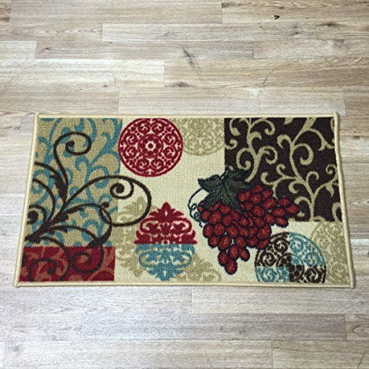 """AmazonSmile: Anti-Bacterial Rubber Back Home and KITCHEN RUGS Non-Skid/Slip 18""""x31"""" 