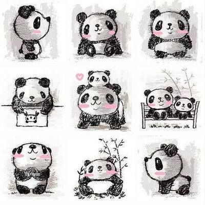kawaii panda | What adorable little kawaii panda sketches — with Julie Le .