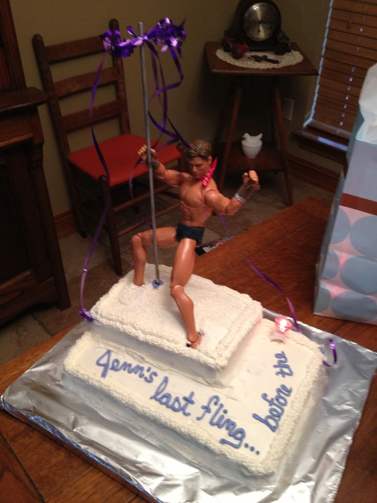 Bachelorette party cake.. haha We could make a smaller version, homemade, and use a Ken Doll! ♥