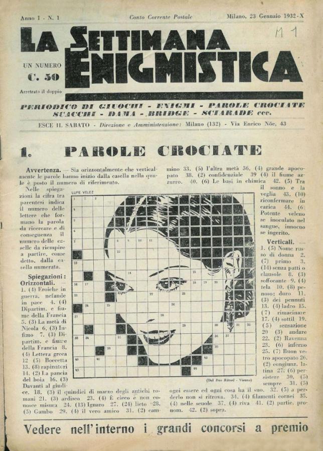 La settimana enigmistica n.1 del 1932