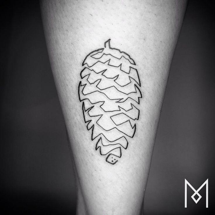 Les tatouages en lignes continues de Mo Ganji 2Tout2Rien