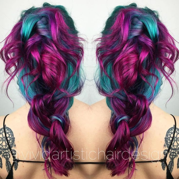 20 Unboring Styles with Magenta Hair Color | Teal hair ...