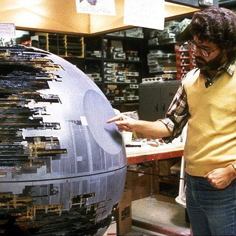 Death star and George Lucas.