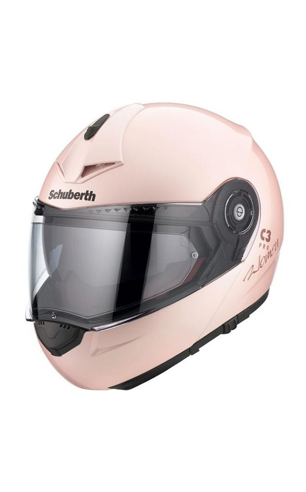 Schuberth C3 Pro Ladies Flip-Front Motorcycle Helmet - Pearl Pink - LadyBiker.co.uk