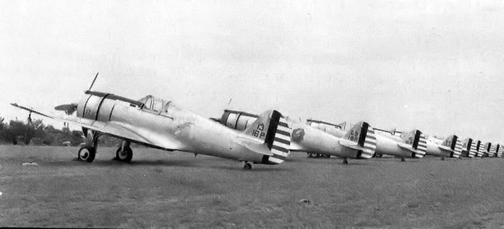 24th Pursuit Squadron Curtiss P-36A Hawks at Rio Hato Airfield, Panama