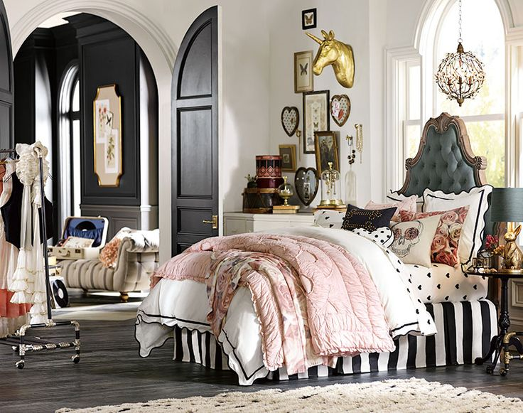 Teenage Girl Bedroom Ideas   Whimsy   PBteen I love EVERYTHING about this room