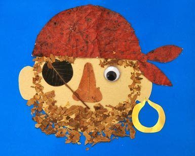 Pirate leaf craft...what a fun idea!!