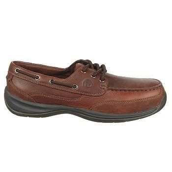 Rockport Works Men's Sailing Club Steel Toe Boat Shoes (Brown) - 11.0 W