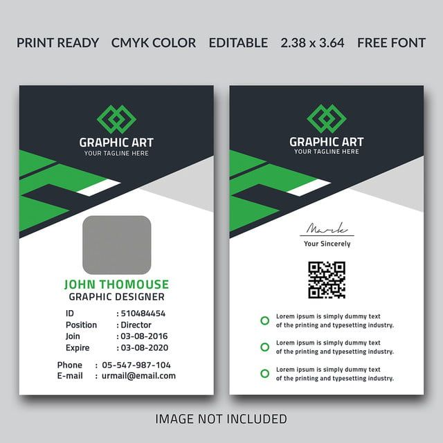 Office Id Card Template Id Card Template Identity Card Design Business Card Graphic
