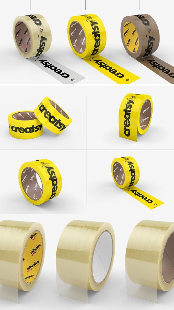 Download Noissue Packing Tape Mockup Set Yellowimages